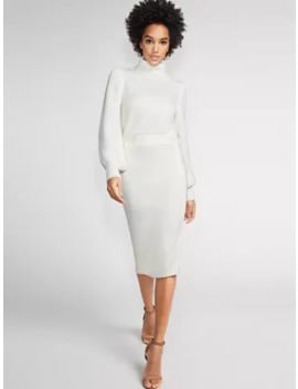 Zip Accent Sweater Skirt   Gabrielle Union Collection by New York & Company