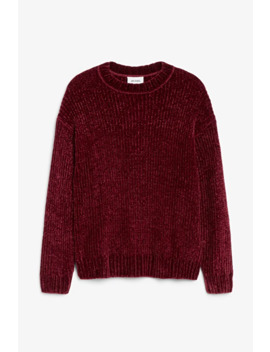 Velvet Knit Sweater by Monki