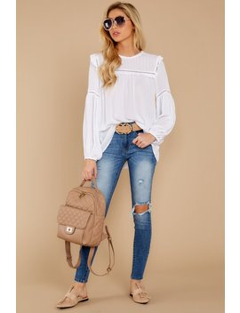 No Time To Wait White Top by Olivaceous