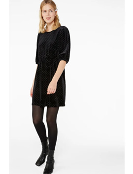 Sparkly Velvet Dress by Monki