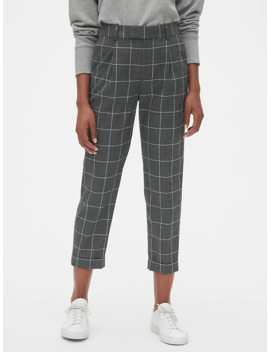 High Rise Pleated Crop Pants by Gap