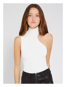 Kiki Cut Out Turtleneck Tank by Alice And Olivia
