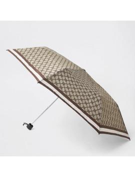 Brown Compact Ri Monogram Umbrella by River Island