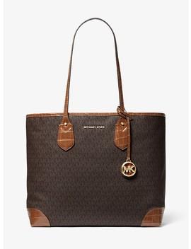 Eva Large Logo Tote Bag by Michael Michael Kors