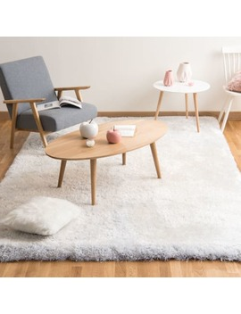Fabric Long Pile Rug In Ecru 140 X 200cm    Polaire by Maisons Du Monde