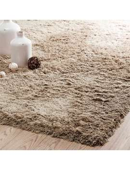 Fabric Long Pile Rug In Beige 160 X 230cm    Inuit by Maisons Du Monde