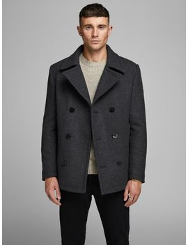 Wool Coat Christmas Jumper  Wool Coat  Glenn Royal R202 Rdd Slim Fit Jeans  Speed Hooks Leather Boots by Jack & Jones