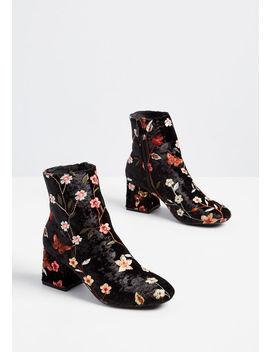 Party Starlet Velvet Ankle Boot by Chelsea Crew