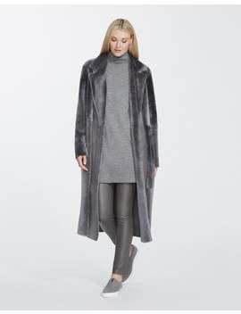 Sleek Merino Shearling Reversible Devonshire Coat by Lafayette 148 New York