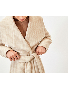 Check Wrap Coat by Oasis
