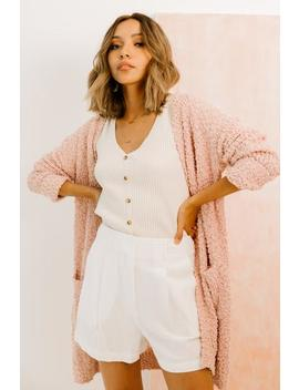 Come & Go Pink Cardigan by Luca And Grae