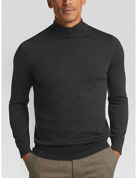 Joseph Abboud Charcoal Mock Neck Performance Sweater by Joseph Abboud