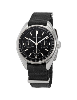 Special Edition Lunar Pilot Chronograph Black Dial Men's Watch by Bulova