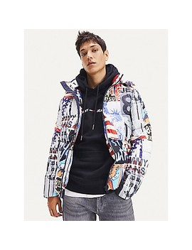 Recycled Shell Patterned Jacket by Tommy Hilfiger