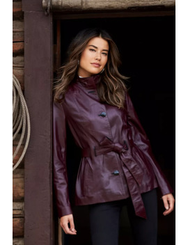 Tribeca Spanish Lambskin Leather Coat by Overland