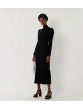Velvet Zebra Print Midi Dress by Warehouse