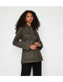 Utility Belted Jacket by Warehouse