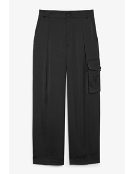 Satin Utility Trousers by Monki