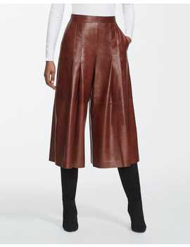 Lacquered Lambskin Arthur Culotte by Lafayette 148 New York