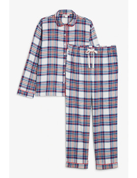 Soft Flannel Pj Set by Monki