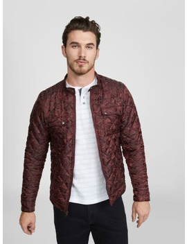 Kam Quilted Camo Jacket by G By Guess