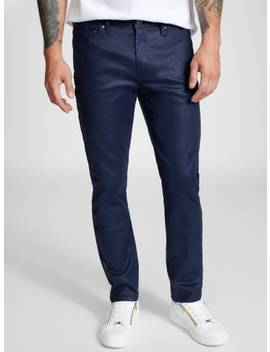 Laurent Coated Skinny Jeans by G By Guess