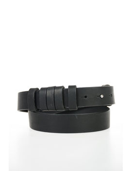 Mm11 Vintage Effect Leather Belt 30 Mm by Maison Margiela