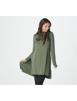 Lisa Rinna Collection Long Sleeve Knit Tunic With Side Slits by The Lisa Rinna Collection