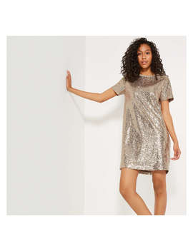Sequin Tee Dress by Joe Fresh