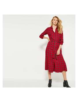 Plaid Tie Front Shirt Dress by Joe Fresh
