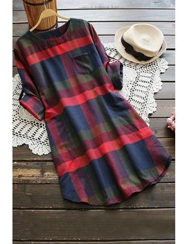 Lady Leisure Plaid Dress by Cupshe
