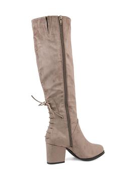 Taupe Leeda Wide Calf Boot   Women by Bella Cora