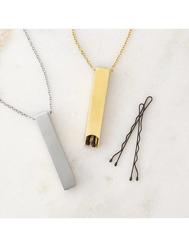 Bobby Pin Storage Necklace by Uncommon Goods
