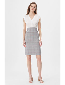 Tailored Summer Check & Silk Dress by Rebecca Taylor