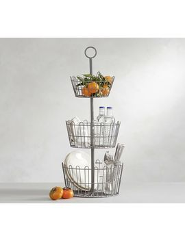 Farmhouse Wire Tiered Stand by Pottery Barn