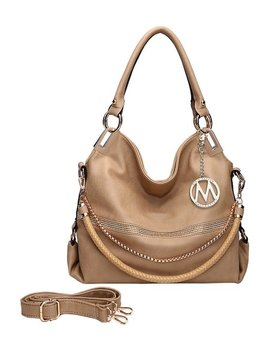 Taupe Twister Hobo by Mkf Collection By Mia K. Farrow