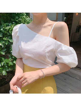 One Shoulder Volume Blouse by Chuu