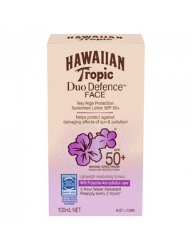 Duo Defence Sunscreen Face Spf50+ 100 M L by Hawaiian Tropic