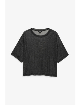 Boxy Glitter Tee by Monki
