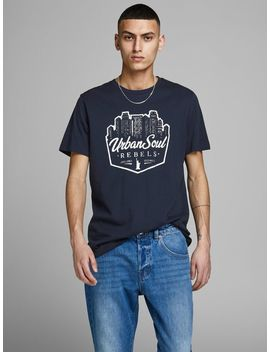 Travel Print T Shirt by Jack & Jones