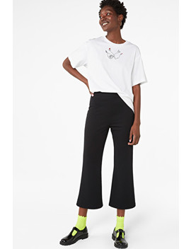 Cropped Flare Trousers by Monki