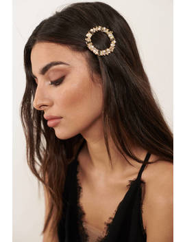 Homecoming Date Multi Round Embellished Hair Clip by Tobi
