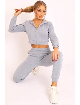 Grey Hoodie And Joggers Loungewear Set   Bluebell by Rebellious Fashion