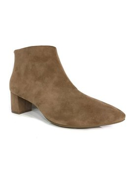 Taupe Bria Leather Bootie by Sudini™