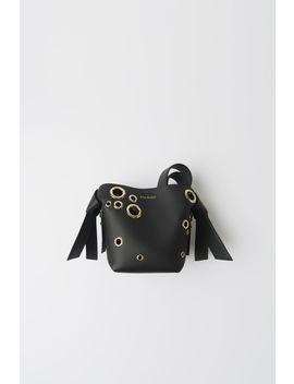 Mini Leather Eyelet Bag Black by Acne Studios