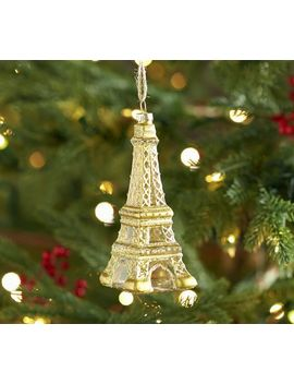 Eiffel Tower Glass Ornament by Pottery Barn