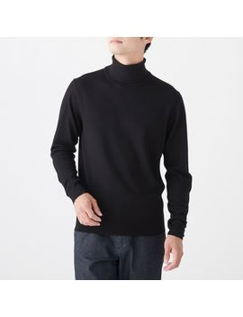 Non Itchy Jersey Stitch Turtle Neck by Muji