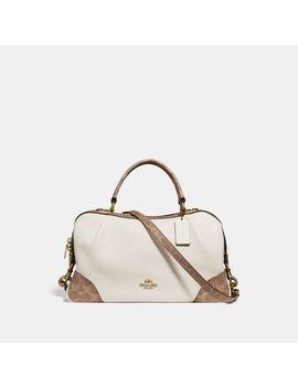 Lane Satchel With Signature Canvas Blocking by Coach