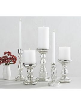 Antique Mercury Glass Candle Holders by Pottery Barn