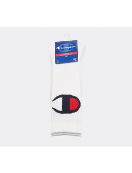 Large Logo Sock   White by Champion